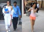 Jacqueline Fernandez Keeps It Cool In White Janhvi Kapoor Snapped Looking Cute In Gym Look