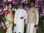 Akash Shloka Wedding Rajinikanth Strikes Pose With Daughter Soundarya