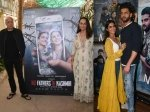 Pics No Fathers In Kashmir Trailer Release Pranutan Bahl Zaheer Iqbal Promote Notebook