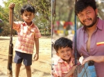 Golden Star Ganesh Son Enters Sandalwood Little Vihaan Strikes A Cute Pose With A Gun