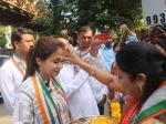Urmila Matondkar Gets Police Protection After Congress Bjp Workers Clash