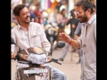 Irrfan Khan Shares A Laugh With Director Homi Adajania On The Sets Of Angrezi Medium!