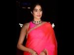 Janhvi Kapoor Spotted In Red Saree For Dadasaheb Phalke Award Looks Wow See Pictures