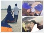 Hina Khan Priyank Sharma Share Romantic Pics Arijit Singh Album Hina Other Side Bful Shot In 50 Deg