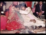 Amitabh Bachchan Puts Vermilion On Jaya Bachchan Forehead Unseen Rare Wedding Photos