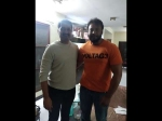 Darshan To Collaborate With The Villain Director C R Manohar Snapped At His Residence