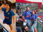 Taimur CHEERS For Team India In Blue Jersey; Dad Saif Watches Ind vs Pak Match With Reel Daughter!