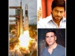 B-Town Rejoices Successful Launch Of Chandrayaan 2; Shah Rukh Khan, Akshay Kumar Congratulate ISRO