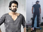 Saaho Celebrations Begin: Fans Place 70-Feet Cutout Of Prabhas In An Event