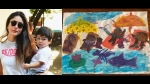 Kareena Kapoor's 'In-House Picasso' Taimur Draws 'A Day At The Beach' And It's Too Cute!