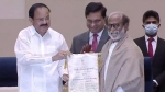 Rajinikanth Receives Dadasaheb Phalke Award From Vice President M Venkaiah Naidu