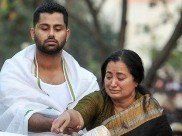 Two Months Since Ambarish's Demise; Abhishek & Sumalatha Pay Their Respects At Kanteerava Studio