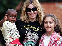 Madonna with David Banda and Lourdes