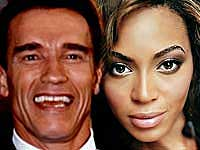 Arnold Schwarzenegger and Beyonce
