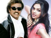 Deepika with Rajinikanth