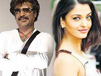 Rajinikanth and Aishwarya Rai