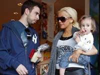 Christina Aguilera with husband abn son
