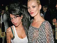 Kate Moss and Amy Winehouse