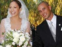 Chris Judd and Jennifer Lopez at their wedding