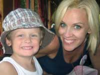 Jenny McCarthy with her autistic son
