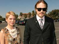 Michelle Williams and Heath ledger