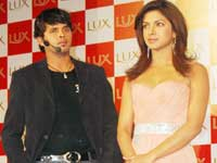 Sreesanth with Priyanka Chopra