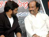 Rajini with Puri Jagannath at the event