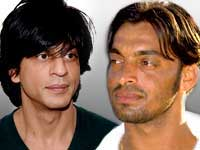 Shahrukh Khan and Shoaib Akhtar