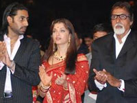 Big B, Abhi and Ash