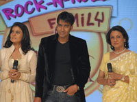 Ajay Devgan, Kajol and Tanuja