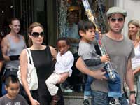 Brad and Angelina with their brood