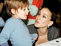 Sarah Jessica Parker with her son