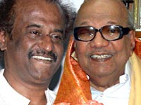Rajinikanth and M Karunanidhi