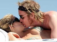Sienna Miler and Rhys Ifans kissing