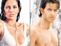 Barbara Mori and Hrithik Roshan