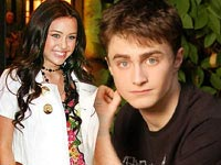 Miley Cyrus and Daniel Radcliffe