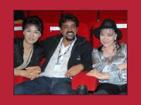 Santosh Sivan with Anna Karina