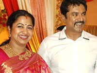 Sarath Kumar and Radhika