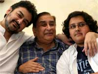 Adnan Sami with dad and son