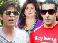 Salman, Farah Khan and Shahrukh