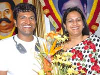 Puneet Rajkumar with Wife Ashwini