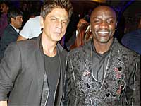 Shahrukh with Akon