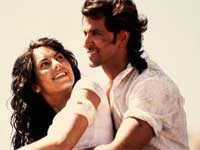 Hrithik Roshan and Barbara Mori