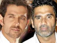 Hrithik Roshan and Suniel Shetty