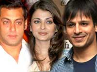 Salman, Aishwarya and Vivek
