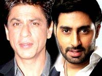 Shahrukh Khan and Abhishek Bachchan
