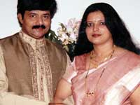 Indudhar and wife Hema