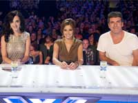 Simon Cowell, Cheryl Cole and Katy Perry