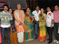 Team Khichdi on the set of Taarak Mehta