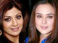 Shilpa and Preity